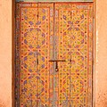 Colourful Entrance Door Sale Rabat Morocco by Ralph A  Ledergerber-Photography