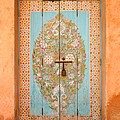 Colourful Moroccan Entrance Door Sale Rabat Morocco by Ralph A  Ledergerber-Photography
