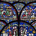 Colourful Stained Glass Window In by Terence Waeland