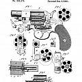Colt Revolver Patent Art 3  -  1881  by Daniel Hagerman