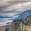 Columbia River Gorge Scenic View In Oregon by Jit Lim
