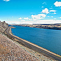 Columbia River Rolls On Between Oregon And Washington  by Ruth Hager