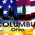 Columbus Oh Patriotic Large Cityscape by Angelina Vick