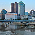 Columbus Ohio At Dusk by Frozen in Time Fine Art Photography