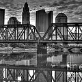 Columbus Ohio Downtown Bw by J M Lister