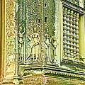 Columns And Hindu Devatas At Angkor Wat In Angkor Wat Archeological Park Near Siem Reap-cambodia by Ruth Hager