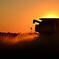 Combine At Sunset by Aaron Greuel