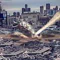 Comerica Park Asteroid by Nicholas  Grunas