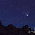 Comet Pan-starrs Over Tetons by Mike Cavaroc