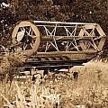 Comgine Wheel In Sepia by Douglas Barnett