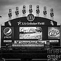 Comiskey Park U.s. Cellular Field Scoreboard In Chicago by Paul Velgos