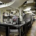Commercial Kitchen Aboard Battleship by Stocktrek Images