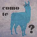 Como Te Llamas Humor Pun Poster Art by Design Turnpike