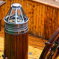 Compass And Bright Work Old Sailboat by Bob Orsillo
