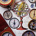 Compasses And Globe Illustration by Garry Gay