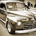 Complete 1948 Plymouth Classic Car In Black And White Sepia 3387 by M K Miller