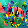 Composition In Blue And Green by Sally Trace