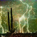 Computer Generated Image Of Lightening by Angela A Stanton