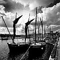 Concarneau Harbour Brittany France by Jim Lowe