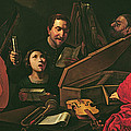 Concert With Musicians And Singers, C.1625 Oil On Canvas by Pietro Paolini