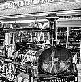 Conch Tour Train 1 Key West - Black And White by Ian Monk