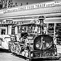 Conch Tour Train 2 Key West - Square - Black And White by Ian Monk