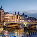Conciergerie And Pont Napoleon At Twilight by Jennifer Ancker