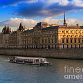 Conciergerie And The Seine River Paris by Louise Heusinkveld