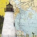 Concord Pt Lighthouse Md Nautical Chart Map Art Cathy Peek by Cathy Peek