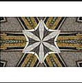 Concrete Flowers - Kaleidoscope - Pentaptych by Barbara Griffin