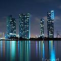Condominium Buildings In Miami by Carsten Reisinger