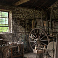 Conestoga Wagon At The Blacksmith - Wagon Repair by Gary Heller