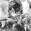 Conestoga Wagons 1890 by Padre Art