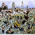 Coney Island Beach And Boardwalk by Diana Powell