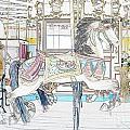 Coney Island Carousel by Lilliana Mendez