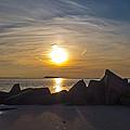 Coney Island Rocky Sunset by Frank Winters