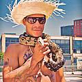 Coney Island Snake Man by Alice Gipson