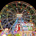 Coney Island's Famous Amusement Park And Wonder Wheel by Kendall Eutemey