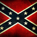 Confederate Flag 4 by Les Cunliffe