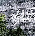 Confederate Generals Davis Lee And Jackson Rock Carving Stone Mountain Park Atlanta Georgia Usa by David Lyons