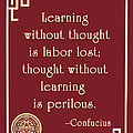 Confucius On Critical Thinking by Scarebaby Design