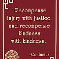 Confucius On Kindness by Scarebaby Design