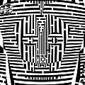 Confused Mask Maze  by Yonatan Frimer Maze Artist