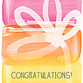 Congratulations- Greeting Card by Linda Woods