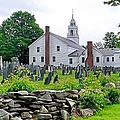 Congregational Church Cemetery Hollis Nh by Janice Drew
