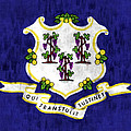 Connecticut Flag by World Art Prints And Designs