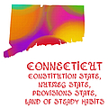 Connecticut State Map Collection 2 by Andee Design