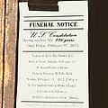 Constitution Death Notice by Joe Jake Pratt