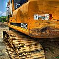 Construction Excavator In Hdr 1 by Amy Cicconi