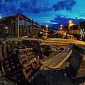Construction Site At Night by Jaroslaw Grudzinski